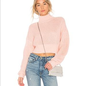 x REVOLVE Union Sweater in Pink Lovers +Friends XS